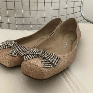 Jessica Simpson sparkly ballet flats